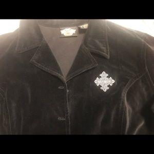Harley blazer velvet black